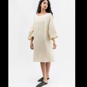 NWT Gene Kellie 100% linen relaxed midi dress